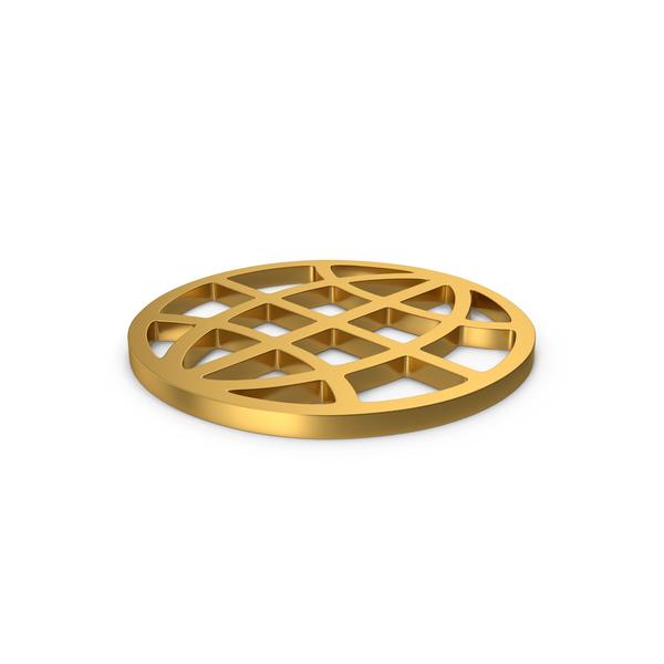 Gold Web Symbol PNG & PSD Images