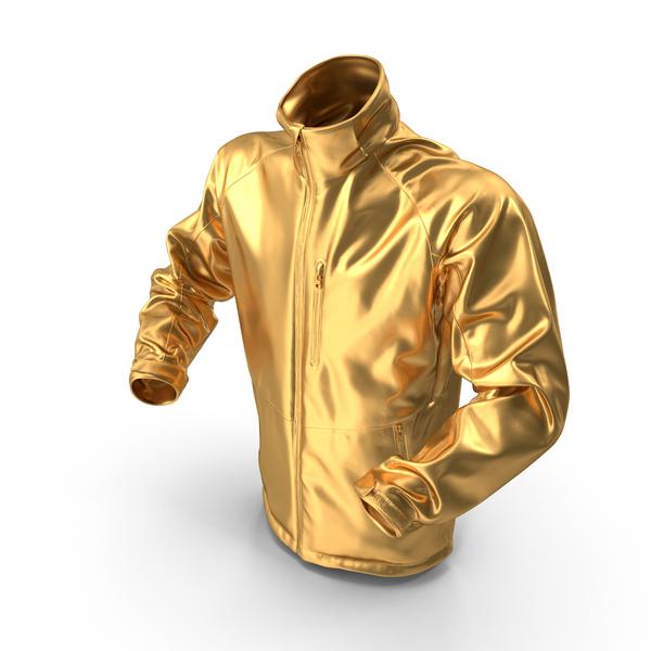 Men's: Gold Winter Jacket PNG & PSD Images