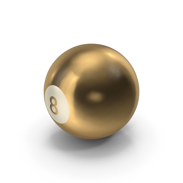 Golden 8 Ball PNG & PSD Images