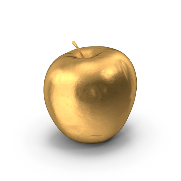 Golden Apple PNG & PSD Images