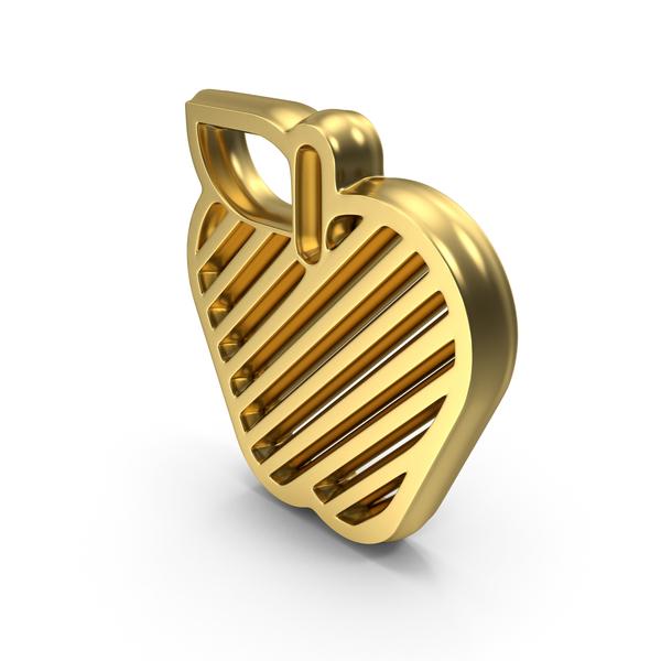 Computer: Golden Apple Design Symbol Logo Icon PNG & PSD Images