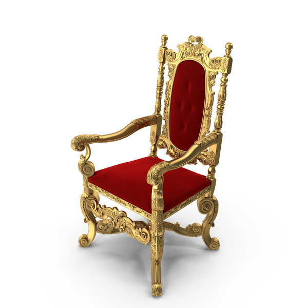 Throne: Golden Armchair English 1680 PNG & PSD Images
