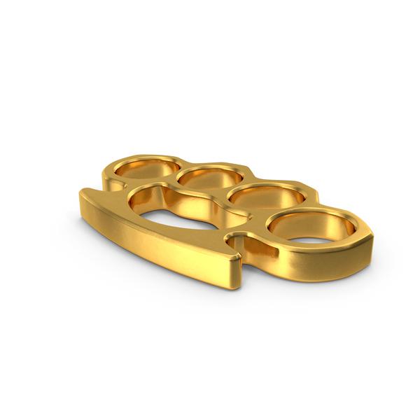 Golden Brass Knuckles PNG & PSD Images