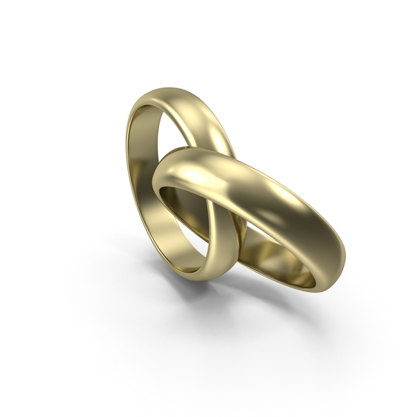 Golden Bright Wedding Rings PNG & PSD Images