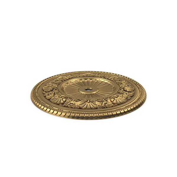 Golden Ceiling Medallion PNG & PSD Images