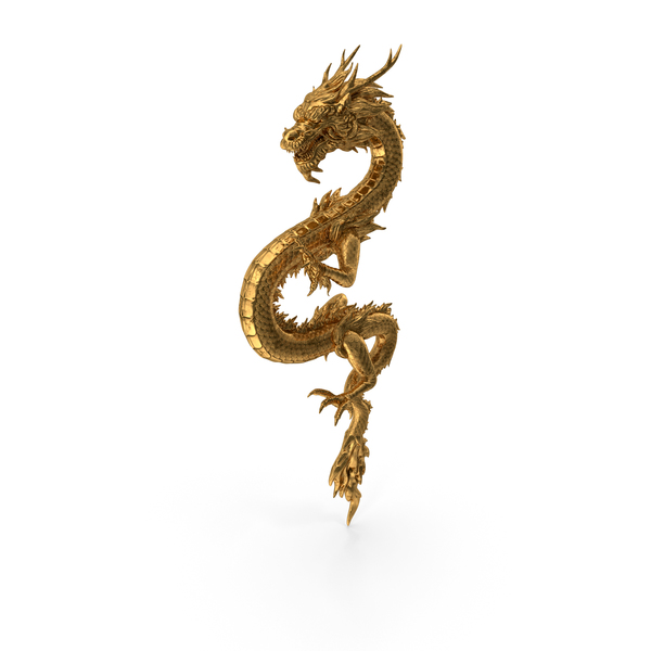 Golden Chinese Dragon Zodiac Sign PNG & PSD Images