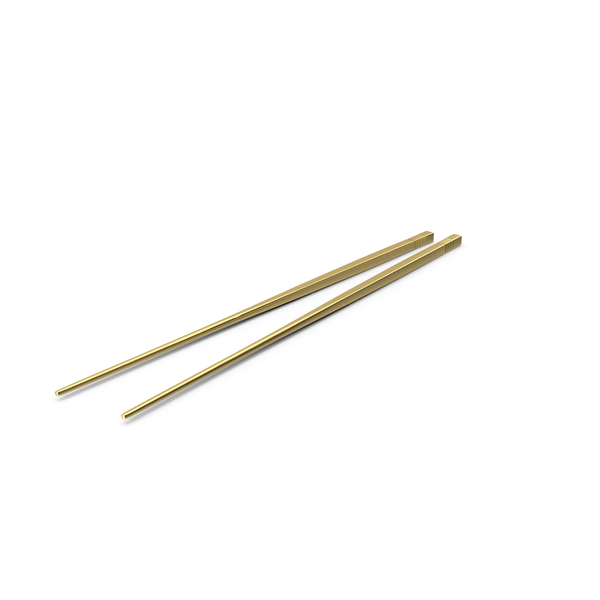 Golden Chopsticks PNG & PSD Images