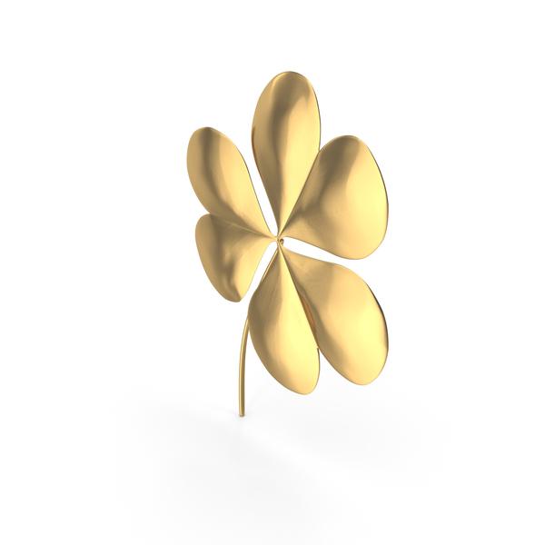 Golden Clover St Patrick Symbol PNG & PSD Images