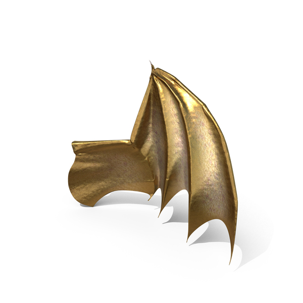 Dragon: Golden Creature Wing PNG & PSD Images
