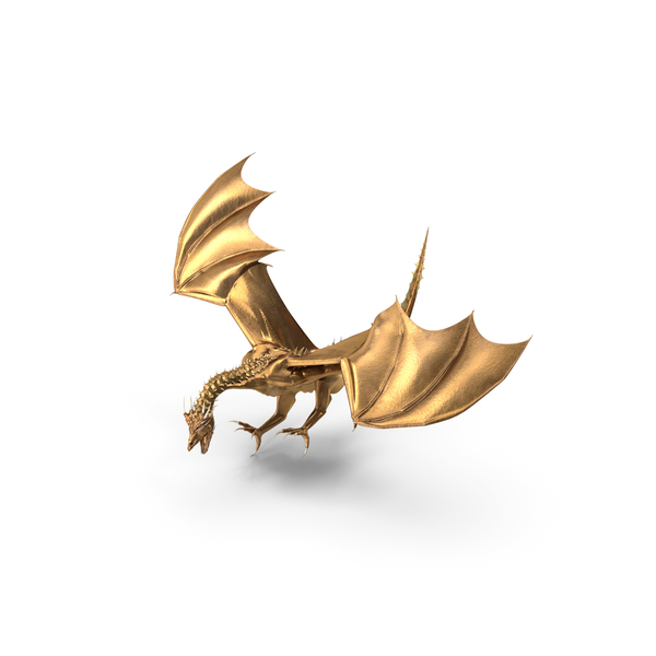 Golden Dragon Landing PNG & PSD Images