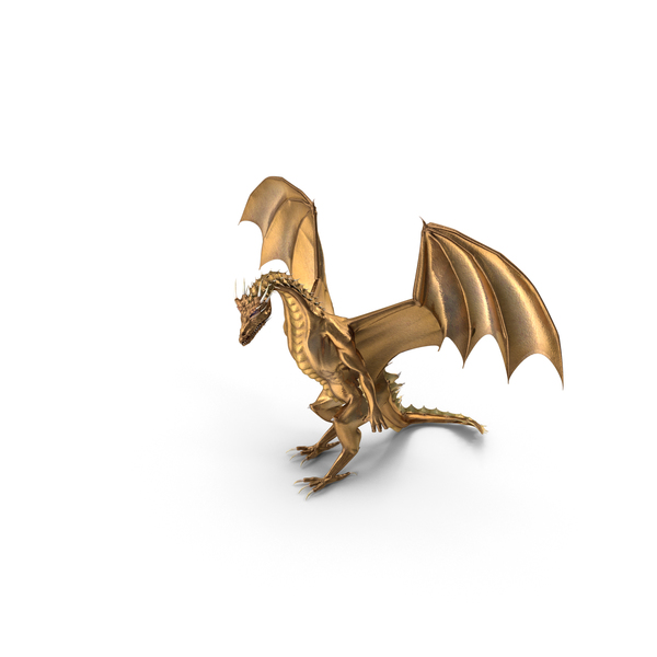 Golden Dragon Standing PNG & PSD Images