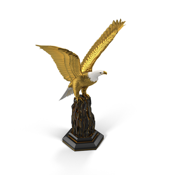 Golden Eagle Sculpture PNG & PSD Images