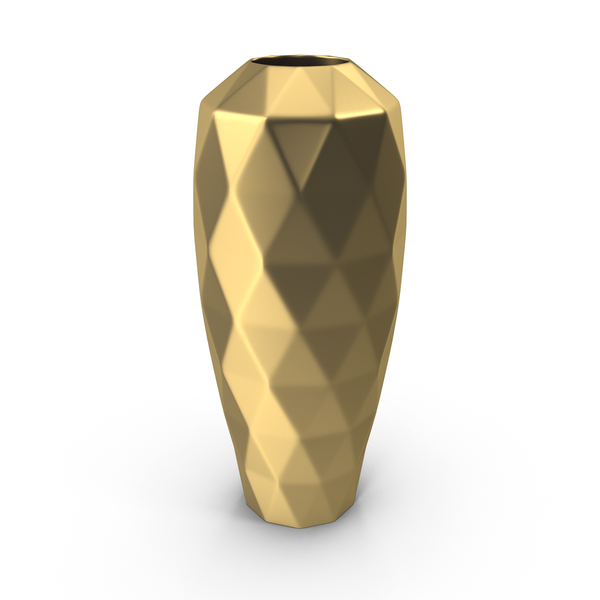 Golden Flower Vase PNG & PSD Images