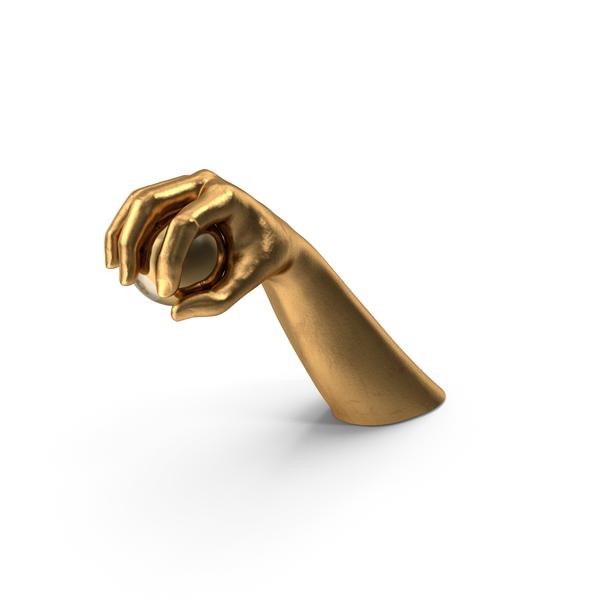 Arms: Golden Hand Grabbing an 8 Ball PNG & PSD Images
