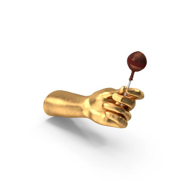 Arms: Golden Hand Holding a Fancy Lollipop PNG & PSD Images