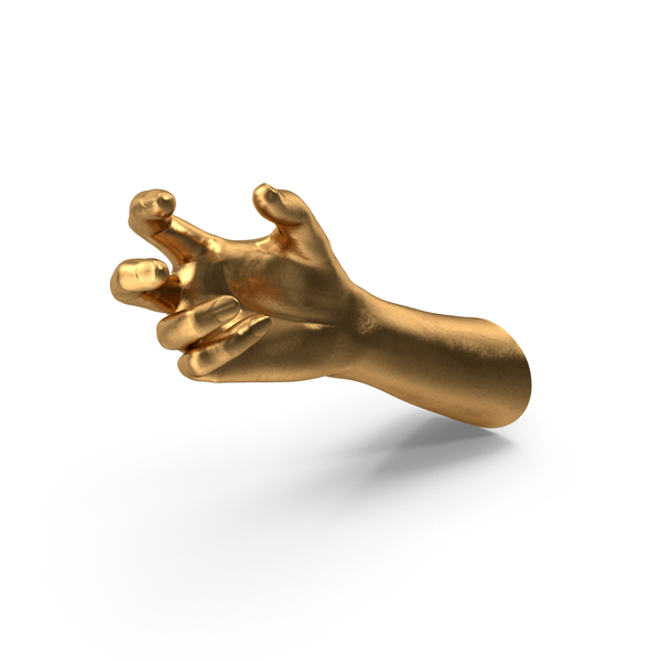 Golden Hand Small Sphere Object Hold Pose PNG & PSD Images