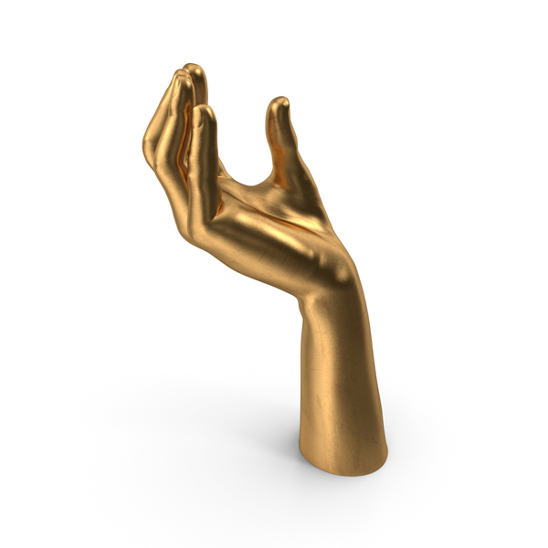 Arms: Golden Hand Upwards Object Hold Pose PNG & PSD Images