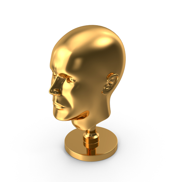 Golden Head Statue PNG & PSD Images