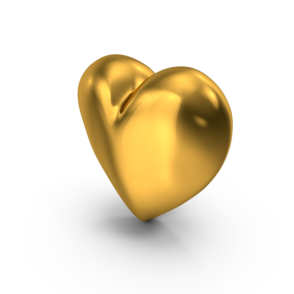 Golden Heart PNG & PSD Images