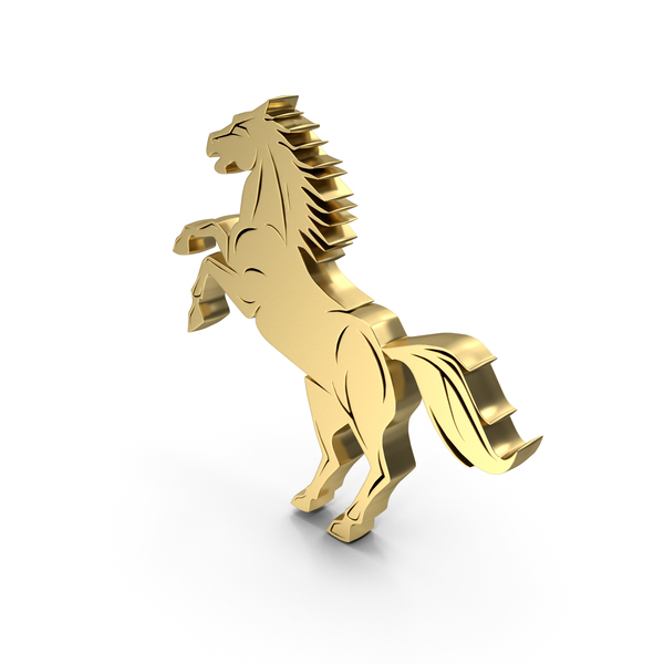 Home Decor: Golden Horse Stand PNG & PSD Images