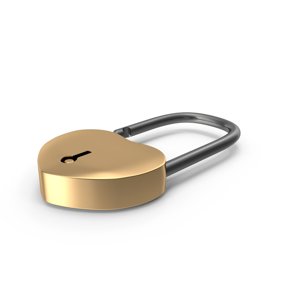 Golden Lock PNG & PSD Images