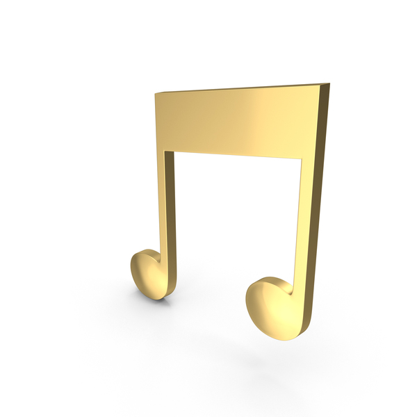 Golden Musical Note PNG & PSD Images