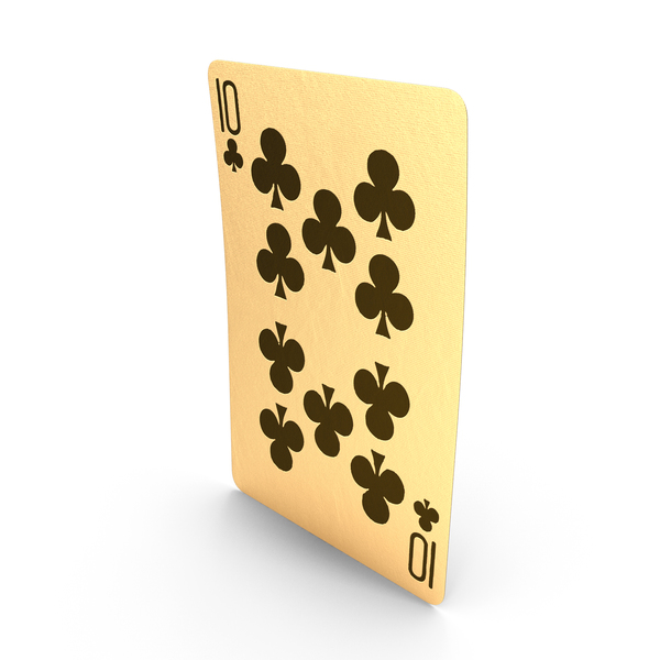 Golden Playing Cards 10 of Clubs PNG & PSD Images