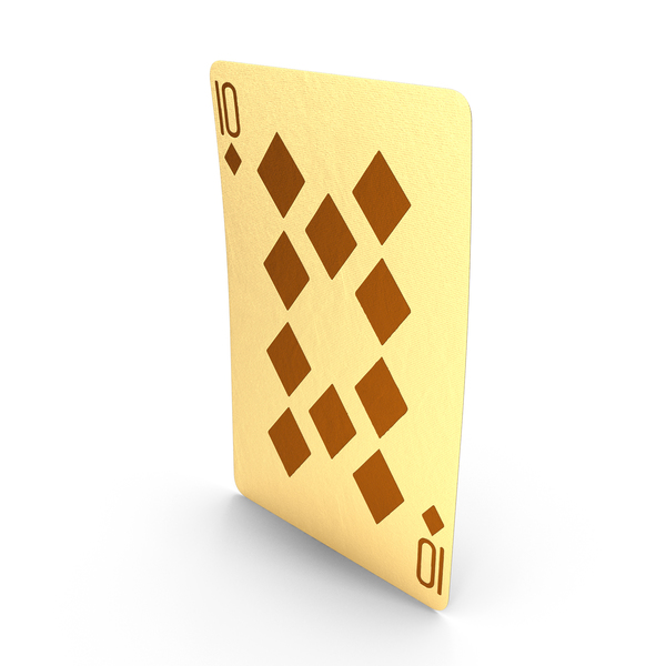 Golden Playing Cards 10 of Diamonds PNG & PSD Images
