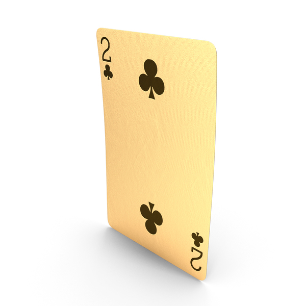 Golden Playing Cards 2 of Clubs PNG & PSD Images