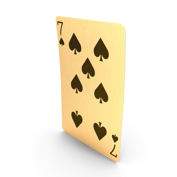 Golden Playing Cards 7 of Spades PNG & PSD Images