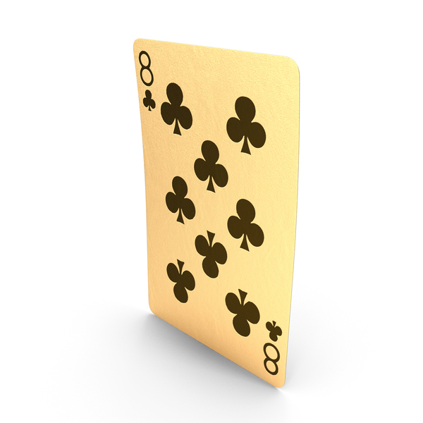 Golden Playing Cards 8 of Clubs PNG & PSD Images