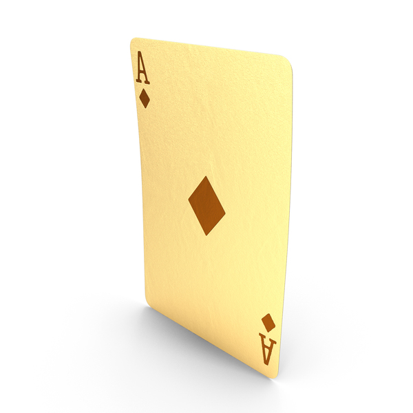 Golden Playing Cards Ace of Diamonds PNG & PSD Images