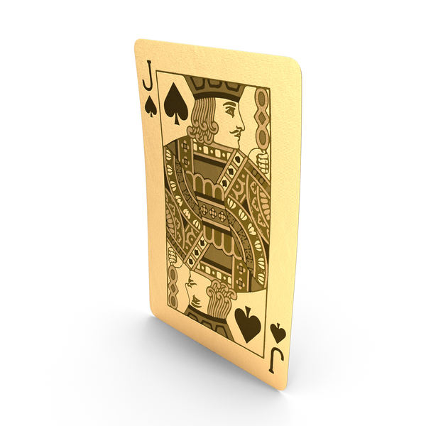 Golden Playing Cards Jack of Spades PNG & PSD Images