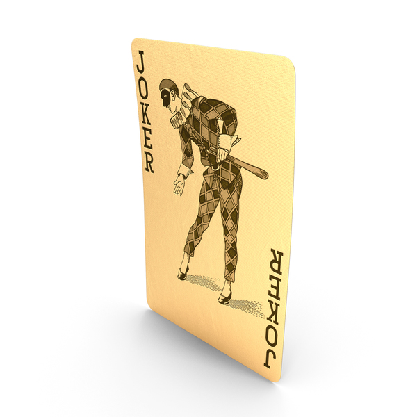 Golden Playing Cards Joker PNG & PSD Images