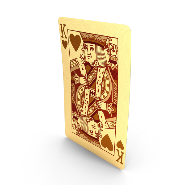 Golden Playing Cards King of Hearts PNG & PSD Images