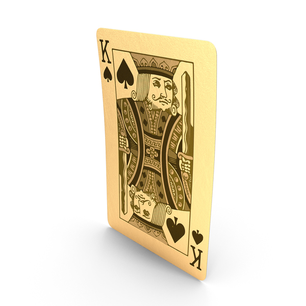Golden Playing Cards King of Spades PNG & PSD Images