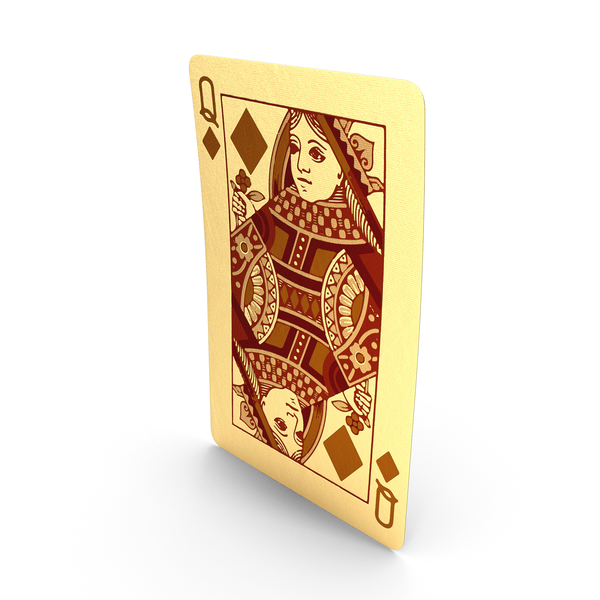 Golden Playing Cards Queen of Diamonds PNG & PSD Images