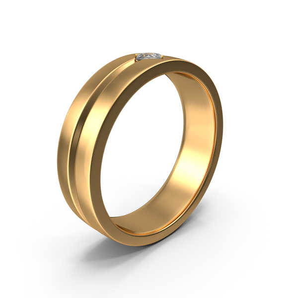 Golden Ring with Diamond PNG & PSD Images