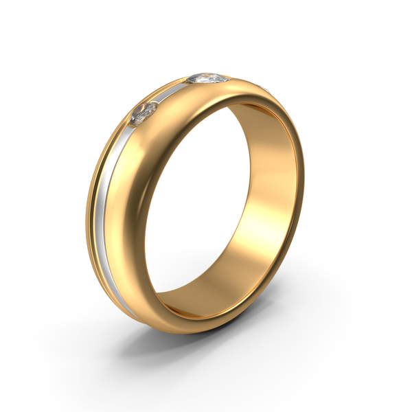 Golden Ring With Diamonds PNG & PSD Images