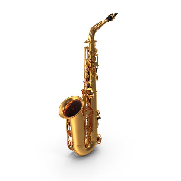 Golden Saxophone Object