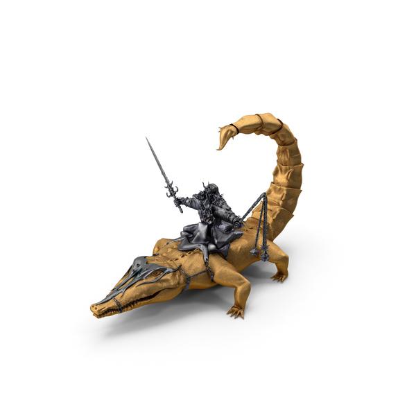 Warrior: Golden Scorpigator Rider PNG & PSD Images
