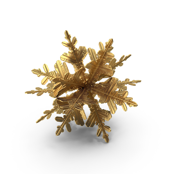 Golden Snowflake Ball PNG & PSD Images