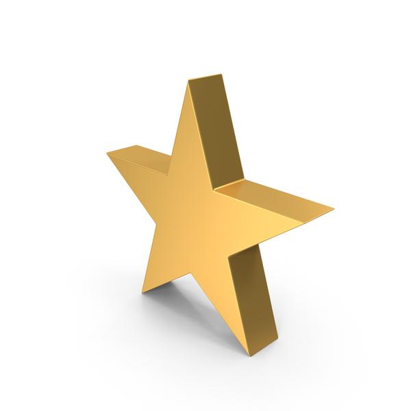 Symbol: Golden Star PNG & PSD Images