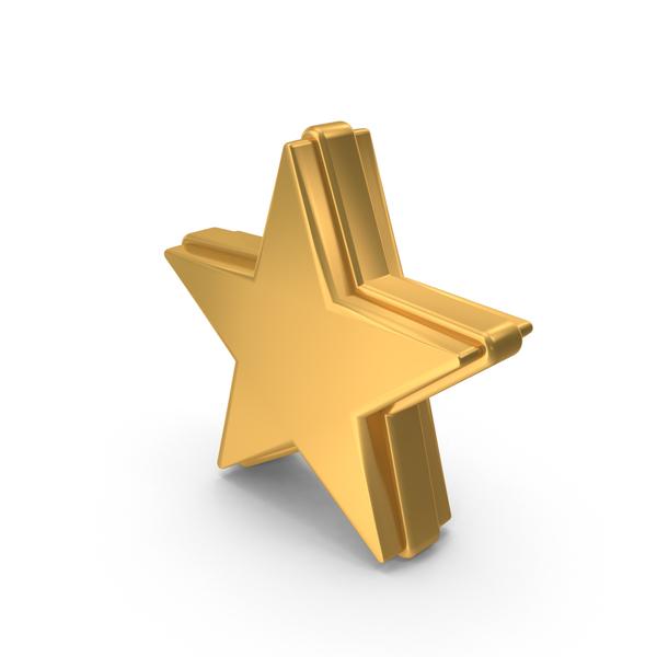 Golden Star PNG & PSD Images
