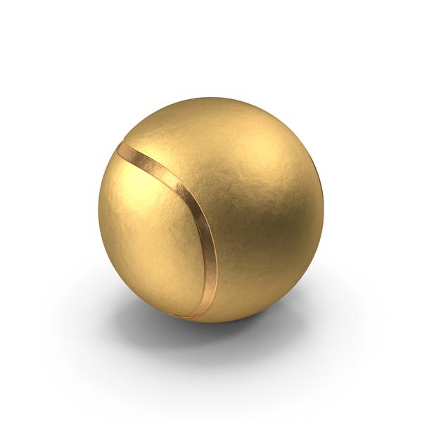 Golden Tennis Ball PNG & PSD Images
