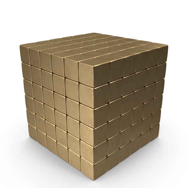 Golden Tetracube PNG & PSD Images