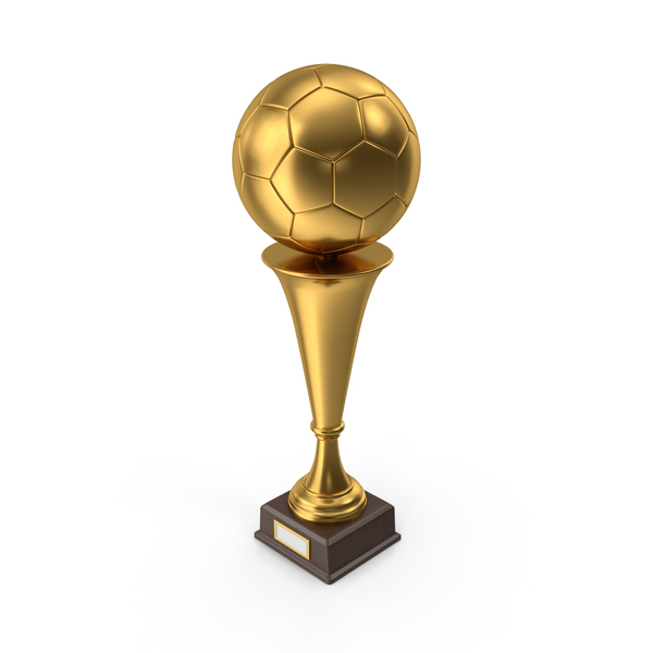 Golden Trophy Soccer Ball PNG & PSD Images