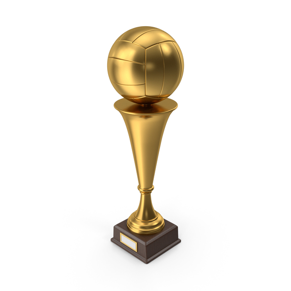 Golden Trophy Volleyball PNG & PSD Images