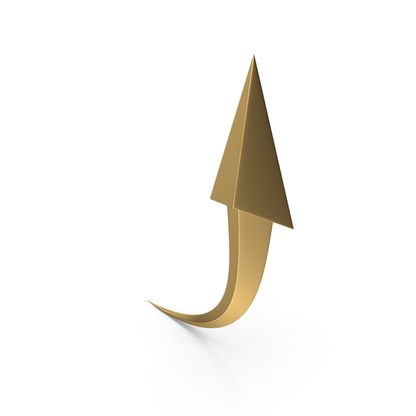 Golden Upward Arrow PNG & PSD Images