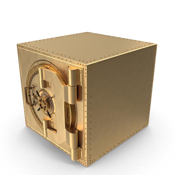 Safe: Golden Vault Closed PNG & PSD Images